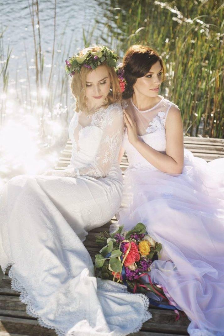suknia ślubna tiulowa na pomoście