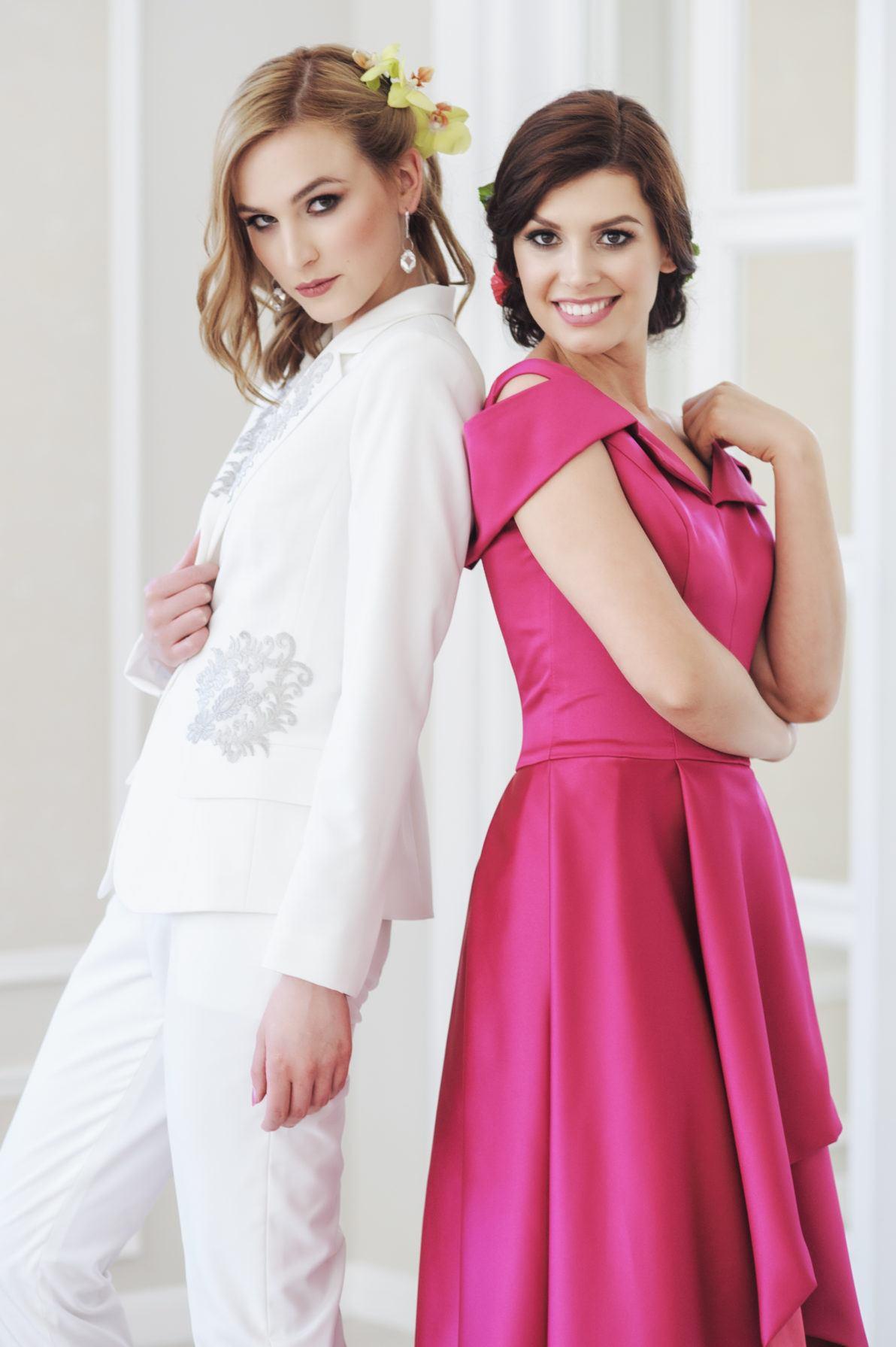 garnitur ślubny i sukienka wieczorowa